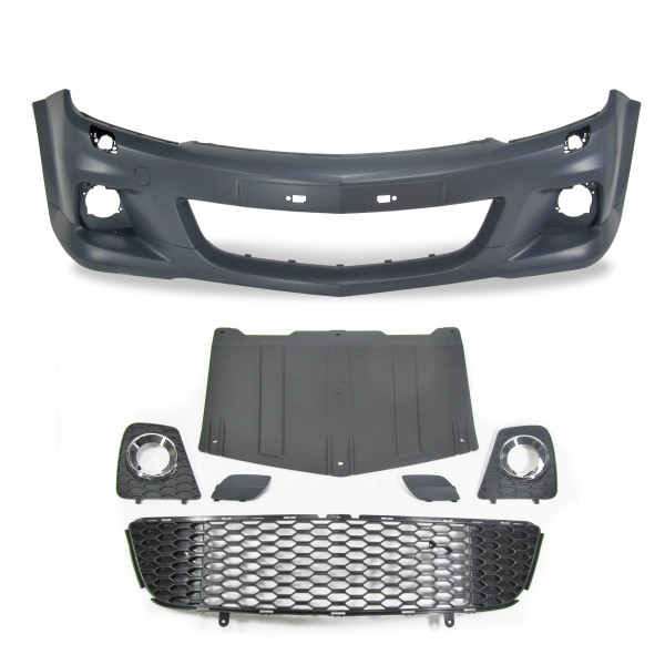 Front bumper in sports design suitable for Opel Astra H 3 Türer