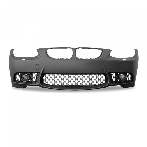 Front bumper in sports design with fog light covers suitable forBMW 3er E92 Coupé year 9.2006 - 2009 and E93 Cabrio year 3.2007 - 03.2010