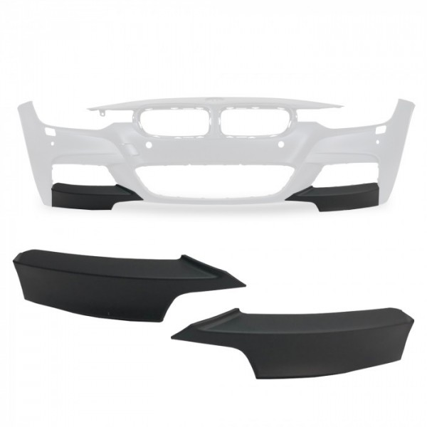 Sport Front Splitter Lip Flaps suitable for BMW F30 / F31, 3 Series, 2012-2017