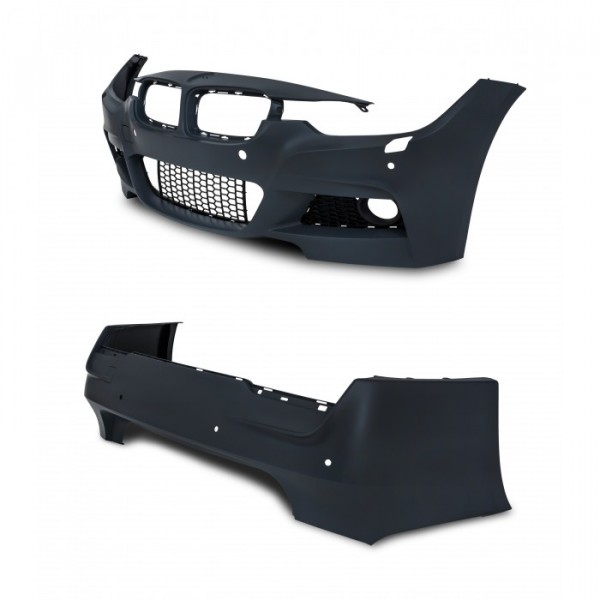 Body Kit in sports design incl. side skrits with PDC holes and HCS suitable for BMW 3er F30 Limousine year 10.2011 -