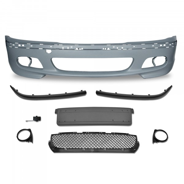 Front bumper in racing design suitable for BMW 3er E46 Limousine + Touring year 1998 - 2005