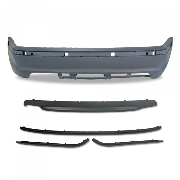 Rear bumper in sports design suitable forBMW 3er E46 4-doors year 5.1998 - 2005