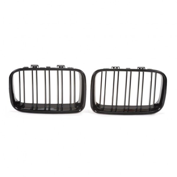 Kidney grill double slat black glossy suitable for BMW 3er E36 year 1990-1996