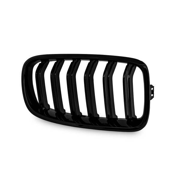 Kidney grill double slat black glossy suitable for BMW F30/F31, 3 Series year. 2011-2015