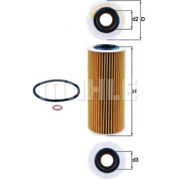 Oil Filter MAHLE OX 177/3D BMW