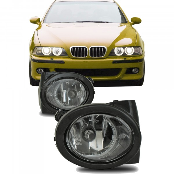 Fog lights clear incl. frame suitable for BMW E46 M3 year 1998- 2007 and E39 M5 year 1998-2005