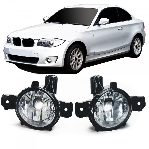 Fog lights clear glass suitable for BMW 1 series E81, E82, E87, E88, X1 E84, X3 E83 and X5 E70