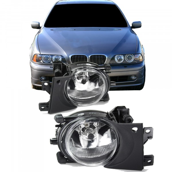 Fog lights clear suitable for BMW 5er E39 Facelift year 1996-2004