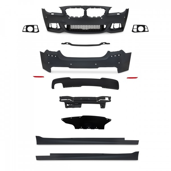 Body Kit in sports design incl. Side skirts with PDC holes suitable for BMW 5 series F10 LCi year 2013-2017