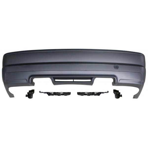 Rear bumper M3 design suitable for BMW E46 2doors, 98-04, without wholes for PDC