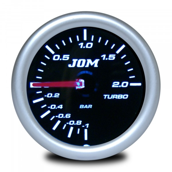 Gauge, boost pressure, black reflecting cover glass 52mm