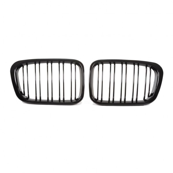 Kidney grill double slat black glossy suitable for BMW 3er E46 4 doors, year 1998-2001