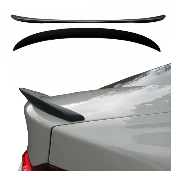 Trunk spoiler black matt suitable for BMW 3 Series (F30) Sedan 2011-2019