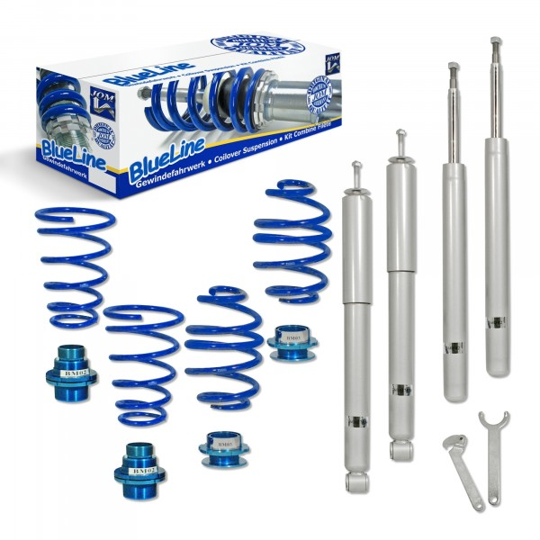 BlueLine Coilover Kit suitable for BMW 3er (E30) 316, 316i, 318i, 320i, 323i, 325i and 324D/TD year 11.1982-1.1991