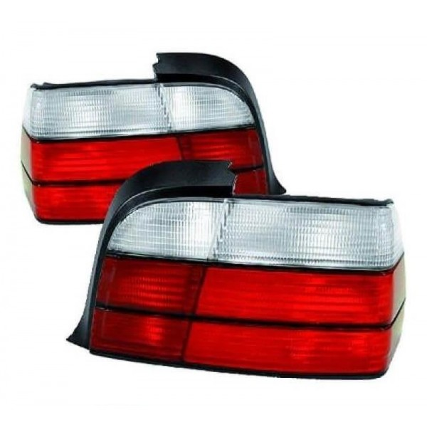 Rear Lights Set Red White M3 Design fits on BMW E36 Coupe Convertible Year 91-99